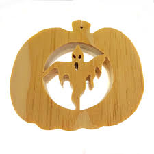 scary ghost pumpkin ornament halloween decoration pine