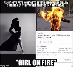 Alicia Keys Meme - girl on fire imgflip