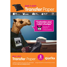 quirkii a4 inkjet t shirt transfers dark 5 pack officeworks