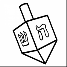 remarkable dreidel clip art black and white with menorah coloring