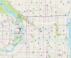 map of philly philly bike map reveals every bike path indego station and