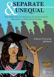 report documents how higher education exacerbates racial inequities