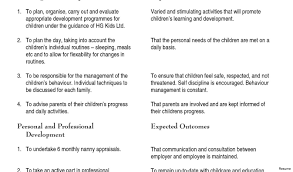 babysitting resume template resume sle nanny template free templates 33a for