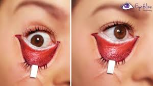 stapled eye halloween makeup tutorial by eyedolizemakeup youtube