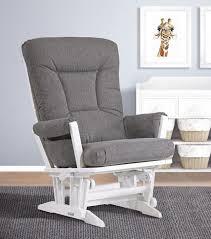 dutailier modern grande glider white charcoal babies