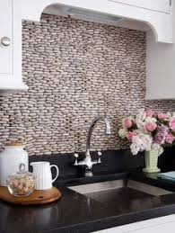 Rock Backsplash Kitchen by River Rock Backsplash Design With Nice Pattern Kitchen