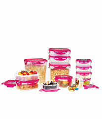 Pink Kitchen Canisters Ruchi Housewares Plastic Pink Super Lock U0026 Seal Kitchen Containers