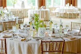 orchid centerpieces wedding reception tablescape with green orchid centerpieces