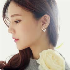 clip on stud earrings aliexpress buy 2017 new zircon 3 colors gold