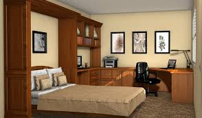 Kitchen Office Furniture Murphy Bed Office Furniture Pertaining To Custom Home Offices