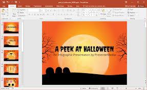animated peek at halloween powerpoint template
