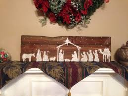 reclaimed wood nativity scene