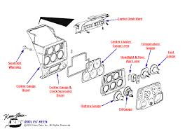 1971 corvette parts 1971 corvette center instrument cluster parts parts