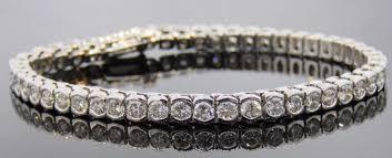 bracelet diamond gold tennis white images 14k white gold half bezel diamond tennis bracelet andrew jpg
