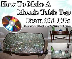 how to make a mosaic table top this simple tutorial of how to make a mosaic table top from old cds