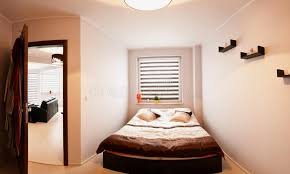 chambre du vide petit panorama de chambre à coucher image stock image du vide