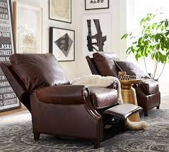 james leather recliner pottery barn