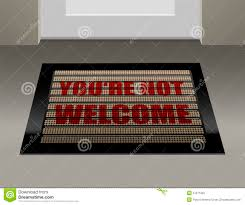 doormat not welcome stock photography image 37271922