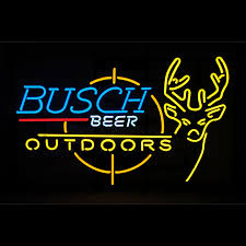 busch light neon sign beer hunting neon sign
