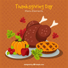 thanksgiving day food vector premium