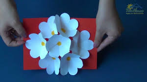 Thanksgiving Cards To Make At Home The House Piracicaba 3d Flower Pop Up Card Youtube