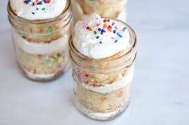 jar cakes jar funfetti layer cakes popsugar food