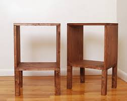 End Table Storage Walnut End Table Etsy