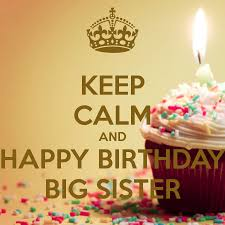Happy Birthday Wishes To Big Keep Calm And Happy Birthday Big Sister 2 Png 900 900 Birthday