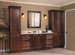 winsome double vanities plus twin mirrors for corner bathroom bathroom large size tremendous brown linen cabinets design with bright countertop and single mirror