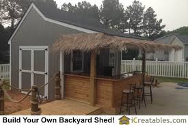 Backyard House Shed by 10x16 Pool House Cabana Plans With Bar And Sun Deck 10x16 Shed