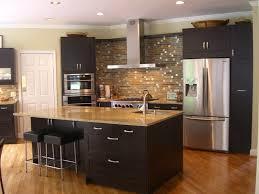 Kitchen Cabinets Refrigerator by Kitchen Cool Backsplash Decor With Large Refrigerator And Black