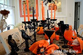 around the house scary halloween tablescape boo boo