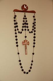 wall rosary wall rosary hanger set by marianiterosaryguild on etsy creativity