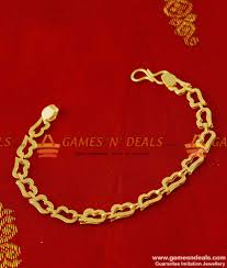 ladies gold bracelet design images Light weight college teen design heartin imitation bracelet buy online jpg