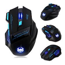 light up wireless gaming mouse 7 buttons led optical wireless gaming mouse for win7 8 me xp 2400