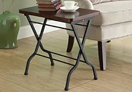 Cherry Accent Table Amazon Com Monarch Specialties Metal Folding Accent Table Cherry