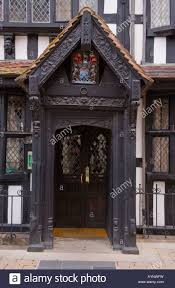 porch and front door entrance of the old house hereford