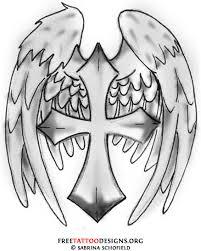 best 25 cross with wings ideas on black cross wings with cross by