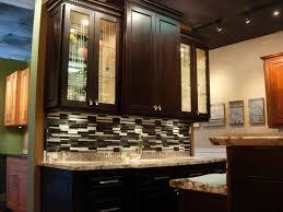 Glass Panel Kitchen Cabinets Kitchen Room Design Narrow Kitchen Darker Walnut Staining