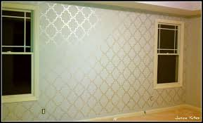 gorgeous best metallic silver paint for walls wall stenciled with