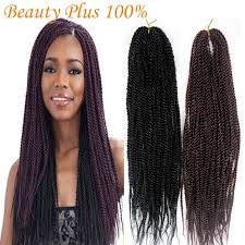 medium size packaged pre twisted hair for crochet braids synthetic braiding hair senegalese braids 22 folded kanekalon