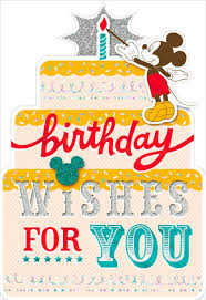 mickey mouse birthday mickey mouse birthday wishes card greeting cards hallmark