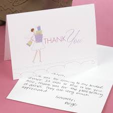 bridal shower thank you cards bridal shower cards isura ink