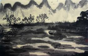 free illustration ink the scenery sketch free image on