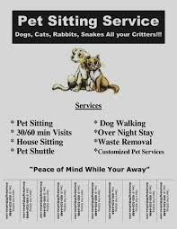 pet sitting flyer template free Thevillas
