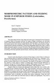Carpentry Cover Letter Morphometric Pattern And Feeding Mode In Emperor Fishes