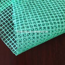 green color 210gsm pe transparent leno mesh fabric tarpaulin in green color