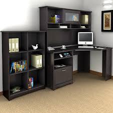 Bush Desk With Hutch Wonderful Bush Cabot Corner Desk With Hutch And 5 Shelf Bookcase