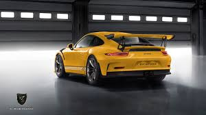 porsche yellow porsche 911 gt3 rs by porsche exclusive rendered autoevolution