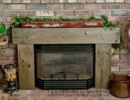 Diy Fireplace Cover Up Whitewash Fireplace Diy Salvage Sister And Mister